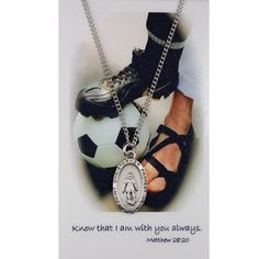 GIRLS SOCCER SPORT MEDAL PENDANT NECKLACE AND ALWAYS WITH YOU PRAYER CARD RELIGIOUS SAINT CHRISTOPER SPORT MEDAL KeegansCatholicTreasures,http://www.amazon.com/dp/B00BRKO6IO/ref=cm_sw_r_pi_dp_p-HZsb06K57SXH3T
