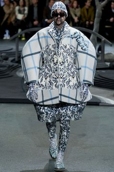 Thom Browne - Fall 2014 Menswear - Style.com / this would be what I mean by waste. McQueen could do this, and make it work... but Browne just can't.