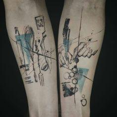 Tattoo done by: @tattooer_nadi #colourtattoo #bluetattoo Food Tattoos, Body Art Tattoos, New Tattoos, Sleeve Tattoos, Tatoos, Blue Tattoo, Colour Tattoo, Cooking Tattoo, Fenix Tattoo