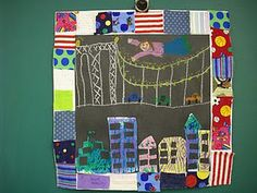 Faith Ringold inspired quilt art works- Tar Beach (or use quilt theme to create unity quilts for classroom or celebrating african americans)