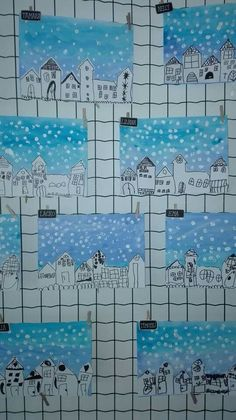 Winter Art Projects, Winter Project, Winter Crafts For Kids, School Art Projects, Art Lessons For Kids, Art Lessons Elementary, Art For Kids, Preschool Arts And Crafts, Classroom Crafts