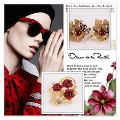 Oscar de la Renta Earrings by shambala-379 on Polyvore featuring Oscar de la Renta and vintage