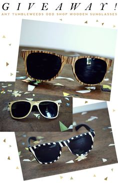 CUSTOM WOODEN SUNGLASSES, enter by June 15th!  http://www.moorea-seal.com/2011/06/wooden-sunglasses-giveaway.html