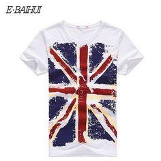 E-BAIHUI Brand Cotton men Clothing Male Slim Fit t shirt Man T-shirts Casual T-Shirts Skateboard Swag mens tops tees Y001