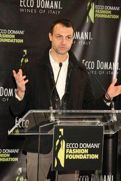 Ecco Domani winemaker Fabrizio Gatto speaks at the 2013 Ecco Domani Fashion foundation brunch.