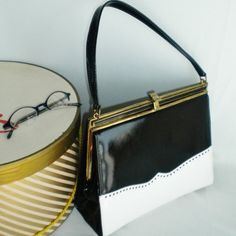 Life Stride Spectator 60s Kelly Bag Black and by normajeanscloset, $49.99