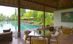 The Pool Lounge at The Chedi Club Tanah Gajah, Ubud, Bali