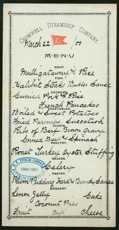 handwritten menu - cute idea for a dinner party