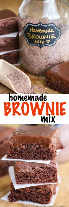 After trying this homemade brownie mix recipe, you will never reach for a boxed brownie mix again! This recipe comes together in a matter of minutes and creates 6 batches of mix, which will keep for up to 3 months!
