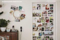 Puerta decorada con fotos