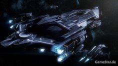 Star Citizen: Squadron 42 : Die Stanton ist eine Fregatte der Idris-Klasse, die maximal vier Jäger trägt. Auf ihr sind wir anfangs und wohl auch für einen ziemlich langen Teil der Story-Kampagne stationiert.