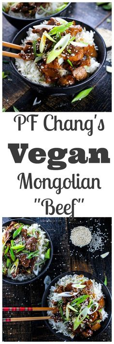 "A vegan version of my favorite Chinese take out! This Mongolian ""Beef"" is tender, saucy and perfectly savory. All of the flavor and you can feel good about eat a great plant based meal!"