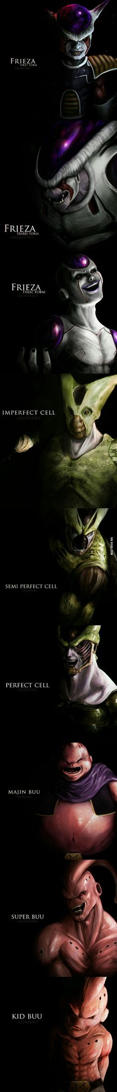 Badass DBZ Villains..... I never thought they'd look that scary....