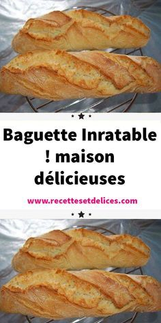 delicious house - This bread baguette recipe that I find fantastic, The bread baguettes are crispy at will, like at t - Cooking Chef, Cooking Recipes, 30 Minute Meals, Creative Food, Food Videos, Italian Recipes, Brunch, Food And Drink, Tasty