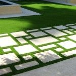 Another idea for parking area. This grass is fake but the pattern is neat.