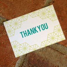 DIY Printable Geometric Wedding Thank You Card by FiraPrintables