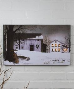 Loving this Christmas Windows Light-Up Canvas on #zulily! #zulilyfinds
