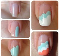 Easy and cute idea for nails #designs #polish