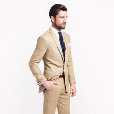 Ludlow suit jacket with center vent in Irish linen http://www.jcrew.com/wedding/Wedding_Groom_Groomsmen/suits/PRDOVR~25269/25269.jsp