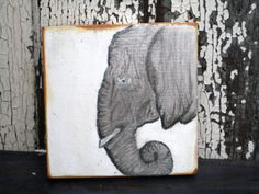 Elephant Art,Wood Elephant,Elephant Painting,On Wood,Safari Animals,Salvaged Wood Art,Reclaimed Wood Art,Painting On Wood,Wood Wall Art by BlackCrowCurios on Etsy