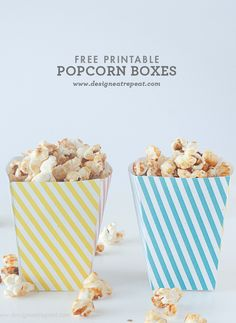 12 Free Popcorn Box Templates for Family Movie Night Free Popcorn, Popcorn Bar, Popcorn Boxes, Party Printables, Free Printables, Pop Corn, Movie Gift, Printable Box, Snack Box