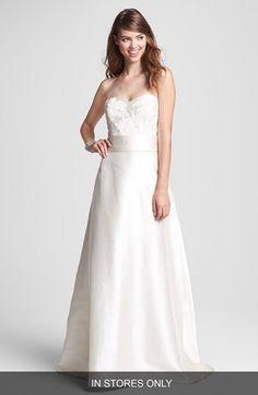 Caroline DeVillo 'Elizabeth' Fluted Silk Dress (In Stores Only) available at #Nordstrom