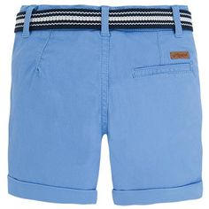 Bermuda chino de piqué con cinturón Azules
