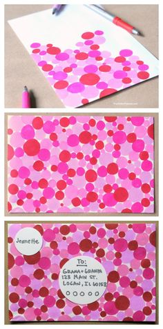 Make cool mail- easy ideas for decorating envelopes