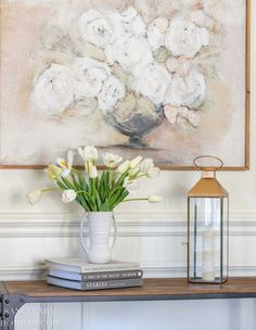 Not all artificial flowers are created equal and I have spent a lot of time sourcing the most realistic and beautiful faux options available. I'm sharing my 5 steps for how to make artificial flowers look real! Modern Farmhouse Design, Farmhouse Style Decorating, Spring Flower Arrangements, Spring Flowers, White Tulips, White Flowers, Artificial Peonies, Bright Decor, Bright Homes