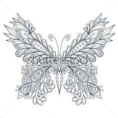 Paisley Butterfly embroidery pattern inspiration