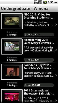 Stay connected with Saint Mary's University of Minnesota wherever you are. Find out how to get around campus, take a self-guided tour, stay up-to-date with the latest campus news, keep tabs on Cardinals' sports, and more. It's Saint Mary's in the palm of your hand! <p>Features: <p>Maps - Find out where you are and where you need to go. <p>Courses - Plan your semester on the go. Browse and search the course catalog, view class times, locations and more. <p>Athletics - Stay up to date with…
