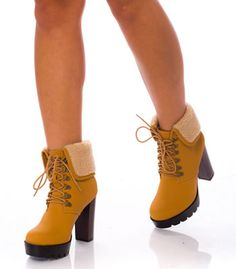 Bocanci gen Timberland dama cu toc gros si platforma Gen, Timberland, Booty, Shoes, Fashion, Moda, Swag, Zapatos, Shoes Outlet