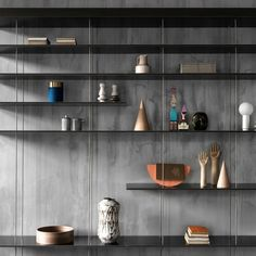 Molteni&C à Budapest Bookcase Shelves, Bookshelf Design, Display Shelves, Shelving, Flat Interior, Room Interior, Kitchen Interior, Showroom, Woodworking Ideas Table