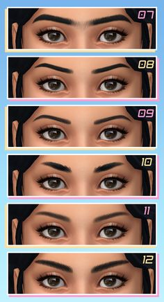 Maxis Match CC World - viola Sims 4 Cc Eyes, Sims 4 Mm Cc, Sims Four, Maxis, Los Sims 4 Mods, Sims 4 Game Mods, Sims 4 Mods Clothes, Sims 4 Clothing, Kendall Jenner Eyebrows
