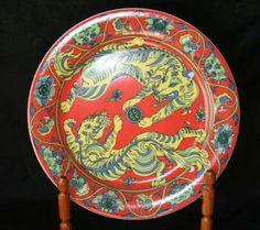 Bopla! 1998 Fu dinner plate. 1998 Asia series.