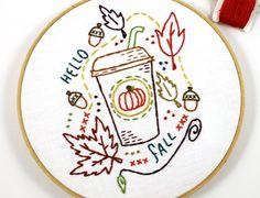 Pumpkin Spice Embroidery Pattern