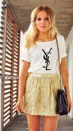 HandM skirt, Romwe top