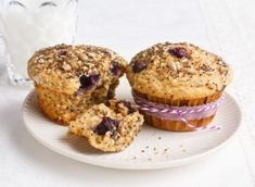 Start your day off right with these very blueberry muffins with seeds. Muffin Bread, Loaf Cake, Cake Cookies, Cupcakes, Blue Berry Muffins, Quick Bread, Muffin Recipes, No Bake Desserts, Granola