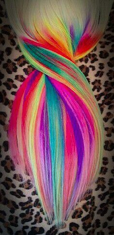 2014 Hot Ombre& Highlights Trend: 30 Rainbow Colored Hairstyles for Chic Women to Try - Pretty Designs Ombre Hair, Neon Hair, Pink Hair, Violet Hair, White Hair, Funky Hairstyles, Pretty Hairstyles, Rainbow Hairstyles, Lavender Hair Dye