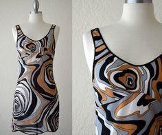 - Go Go Crazy Chic -  Vintage 60s Pucci-esque Shift Slip Dress  by RedLightVintageShop, $36.00