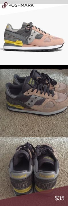 Saucony for Madewell Sneakers Cute sneakers. Good condition, see pics. Saucony Shoes Sneakers