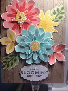 """Card for mom!!!  Made with Stampin"""" Up's Flower Patch stamp set and coordinating dies :)"""
