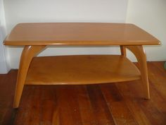 Heywood Wakefield Cocktail Coffee Table RARE Mid-Century Two-Tier Model 335