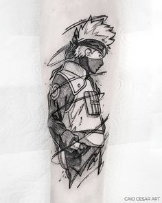 Cute Tattoos, Body Art Tattoos, Small Tattoos, Sleeve Tattoos, Tatoos, Ink Tattoos, Naruto Tattoo, Naruto Drawings, Naruto Art