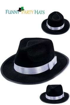 • Dress Up an Everyday Look as a Dapper Distinguished Gentleman in this Soft Felt Hat or Show Your Tough Guy Side as a 1940's Gangster • he Blues Brothers Gave This Classic Hat New Life in the '80's With Their Iconic Movie • There is no End to the Classic Combinations You Can Put Together With This Comfortable Hat Costume Hats, Cool Costumes, Party Costumes, White Fedora Hat, Party Favors For Adults, Carnival Themed Party, Steampunk Hat, Classic Hats, Crazy Hats