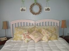 Headboard out of old crib
