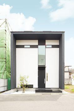 モダンな箱の家