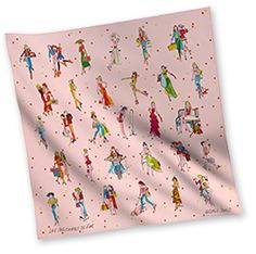 Hermes Women's Vintage Style Small Silk Scarves in Pink | Hermes.com