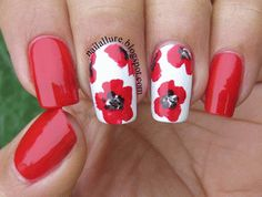 Poppy for Remembrance Day #nail #nails #nailart