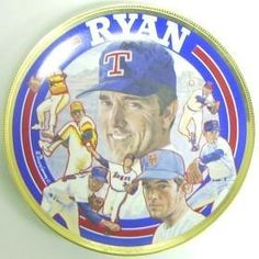 Nolan Ryan Limited Edition Sports Impressions Plate